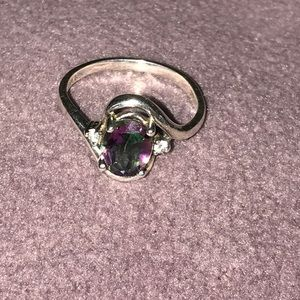 Mystic topaz? Sterling silver 925 ring size 9